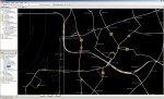 GEO Infrastrukturkarte der Rheinbahn (georeferenziert) - Ausschnitt mit Darstellung der Betriebsbehinderungen zu einer wählbaren Zeit